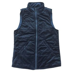 STACCATO Black Quilted Puffer Vest Full Zip Small